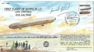 First Flight Of Zeppelin LZ1 cover signed by pilot. 2nd