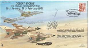 N.M. Philp B Eng with two other signed FDC Desert Storm