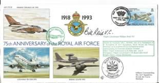 Flt Lt Bill Reid V.C. signed FDC 75th Anniversary of