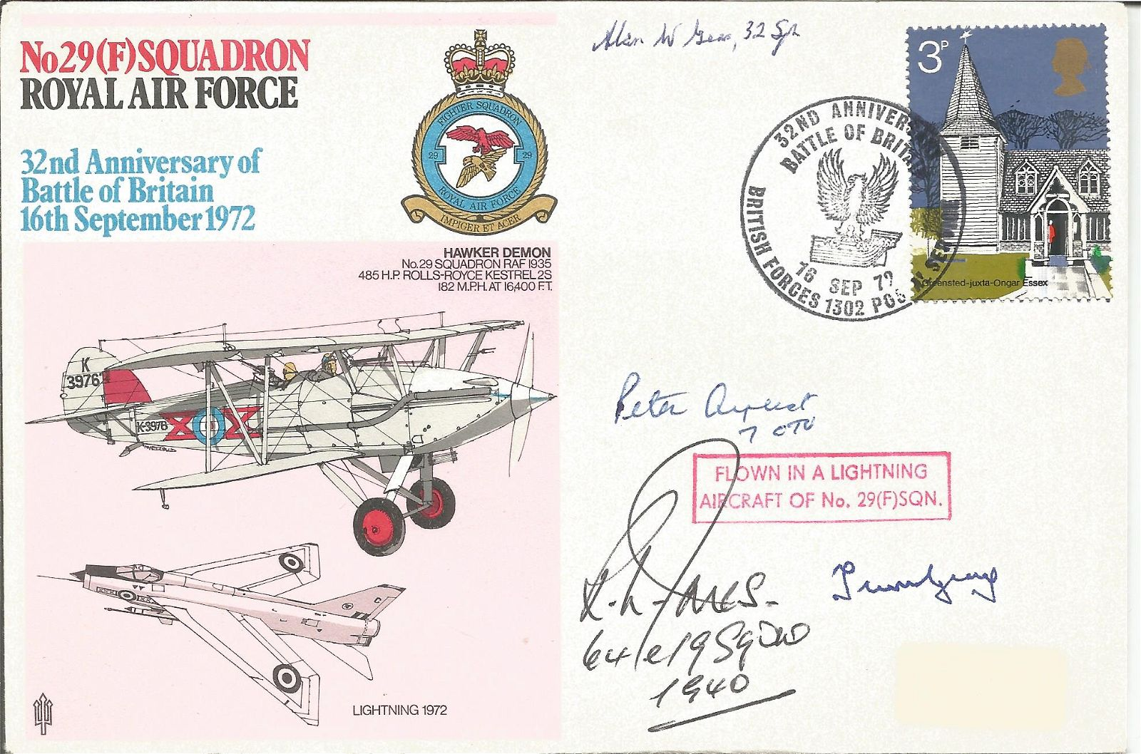 Peter Ayerst, R.L. Jones with two other signed FDC