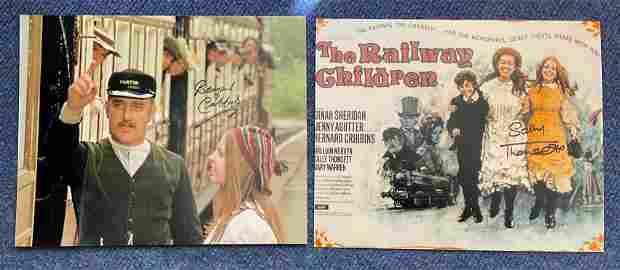 Railway Children collection 2 fantastic 10x8 signed