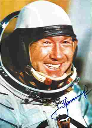 Alexei Leonov signed 12x8 colour photo. Soviet and