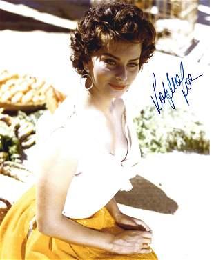 Sophia Loren signed 10x8 colour photo. Sofia Villani
