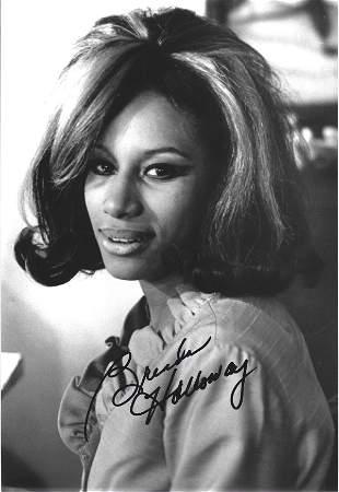 Brenda Holloway signed 12x8 black and white photo.
