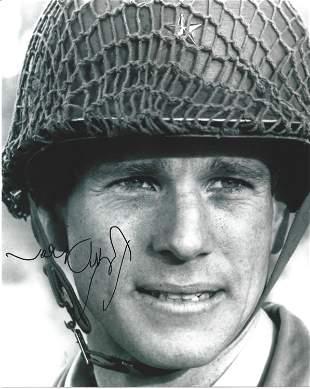 Ryan O'Neal signed 10x8 black and white photo. Charles