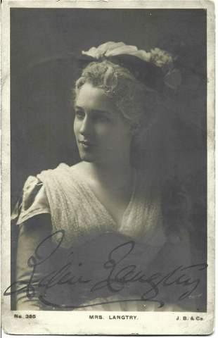 Lillie Langtry signed 6 x 4 inch vintage portrait