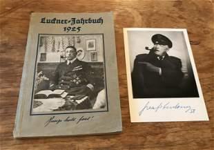 Great War Felix von Luckner signed 6 x 4 inch b/w photo