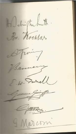 Guglielmo Marconi multiple signed International Radio