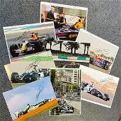 F1 Mark Webber signed Motor Racing photo collection.