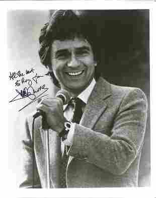 Dudley Moore signed 10x8 black and white photo. Good