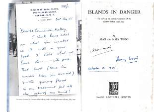 Alan and Mary Wood. Islands In Danger. WW2 first
