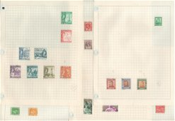 BCW stamp collection on 23 loose pages. Includes NZ,