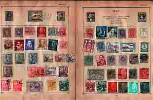 25 loose album pages of European stamps. Covers Spain,