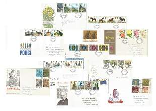 GB FDC and special covers collection. 21 in total.