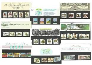 10 GB stamp presentation packs. 1983/1988. Good