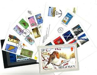 GB collection includes 2 covers Guernsey, 3 covers, 1