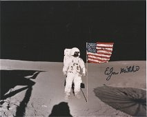 Apollo 14 moonwalker Dr Ed Mitchell signed 10 x 8 inch