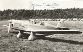 Jean Batten signed 5. 5x3. 5 black and white photo.