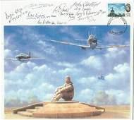 WW2. A Multi-Signed Battle of Britain Memorial in