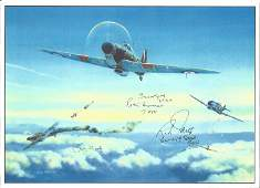 WW2. Battle Of Britain 10x8 colour print. Signed by