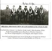 WW2 W/O Reg Payne 50 sqn 3rd on right signed 7 x 5 inch