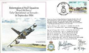 WW2. Reformation of No27 Squadron Royal Air Force: