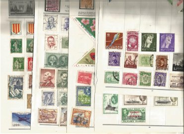 World stamp collection on 11 loose pages. Includes