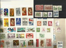 Canadian stamp collection on 11 pages. Good condition.