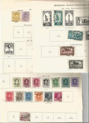 1920 stamps from Spain and Morocco on 5 loose album