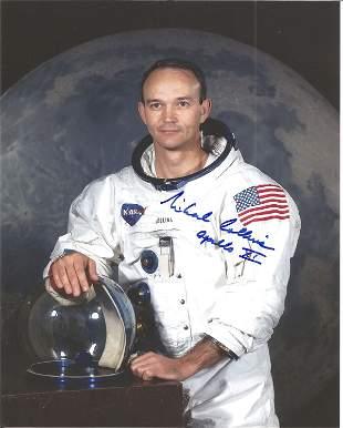 Michael Collins Apollo 11 astronaut signed 10 x 8 inch