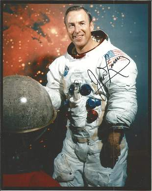 James Lovell Apollo 13 astronaut signed 10 x 8 inch