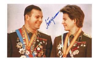 Valentina Tereshkova 1st woman in space signed 12 x 8