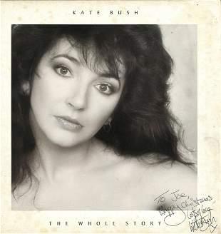 Kate Bush signed record The Whole Story signed to Joe