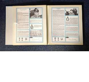 RAF Bomber Command Collection Signed Profiles Each set