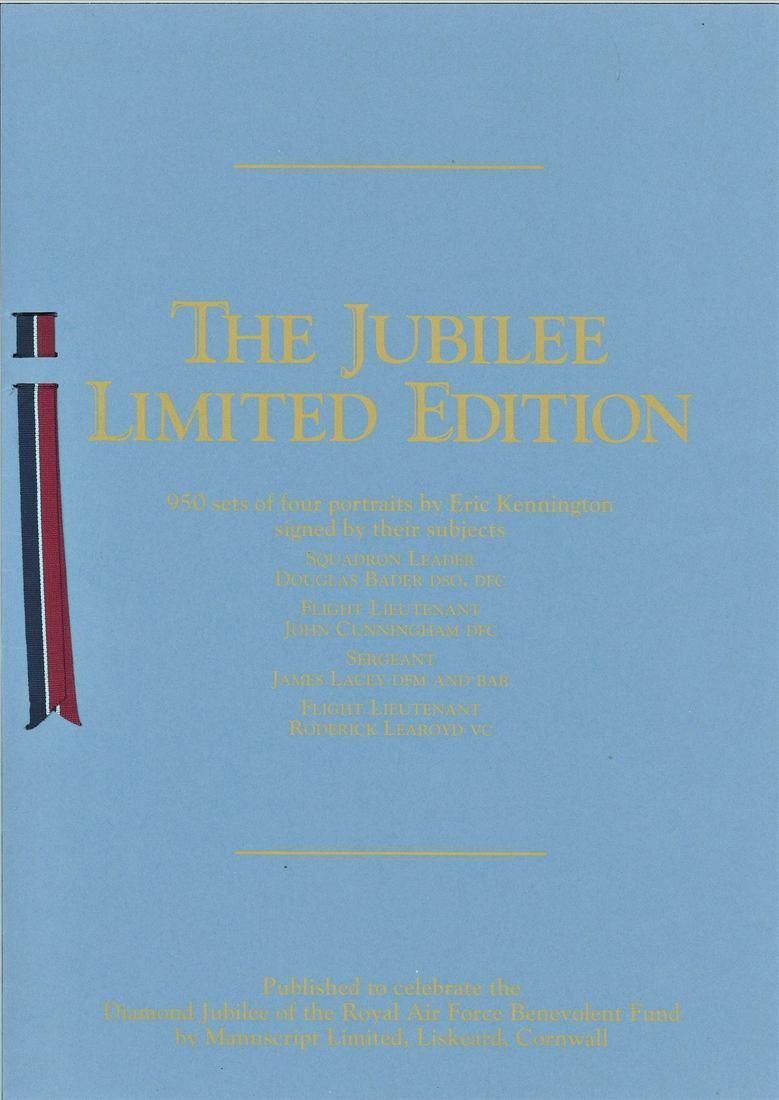 Rare WW2 signed prints The RAF Jubilee Limited Edition.
