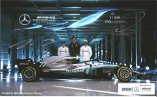 F1 Lewis Hamilton and Valtteri Bottas signed Mercedes