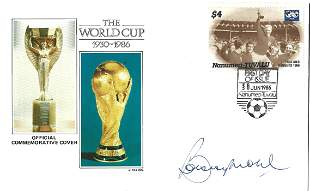 Bobby Moore signed World Commemorative Cover 1930-1986