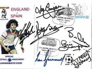 World Cup 1982 England v Spain multi signed FA