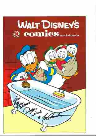 Tony Anselmo signed 13x9 Walt Disney comics and stories