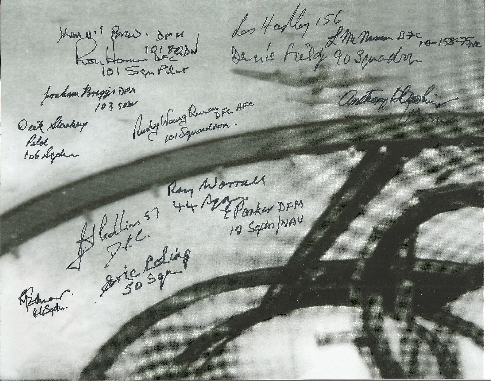 """World War II """"""""View from the Cockpit """"""""multi signed"""
