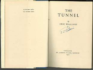 World War II hardback book titled The Tunnel first