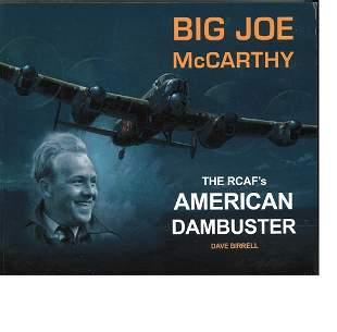 WW2 Joe McCarthy (son of the WW2 Dambuster) signed book