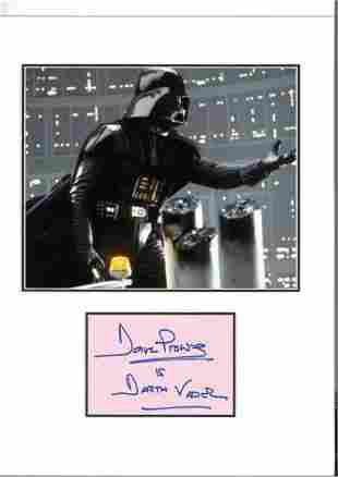 Dave Prowse 18x13 mounted signature piece includes two