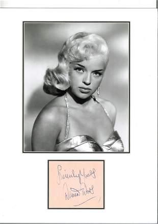Diana Dors 16x12 mounted signature piece includes