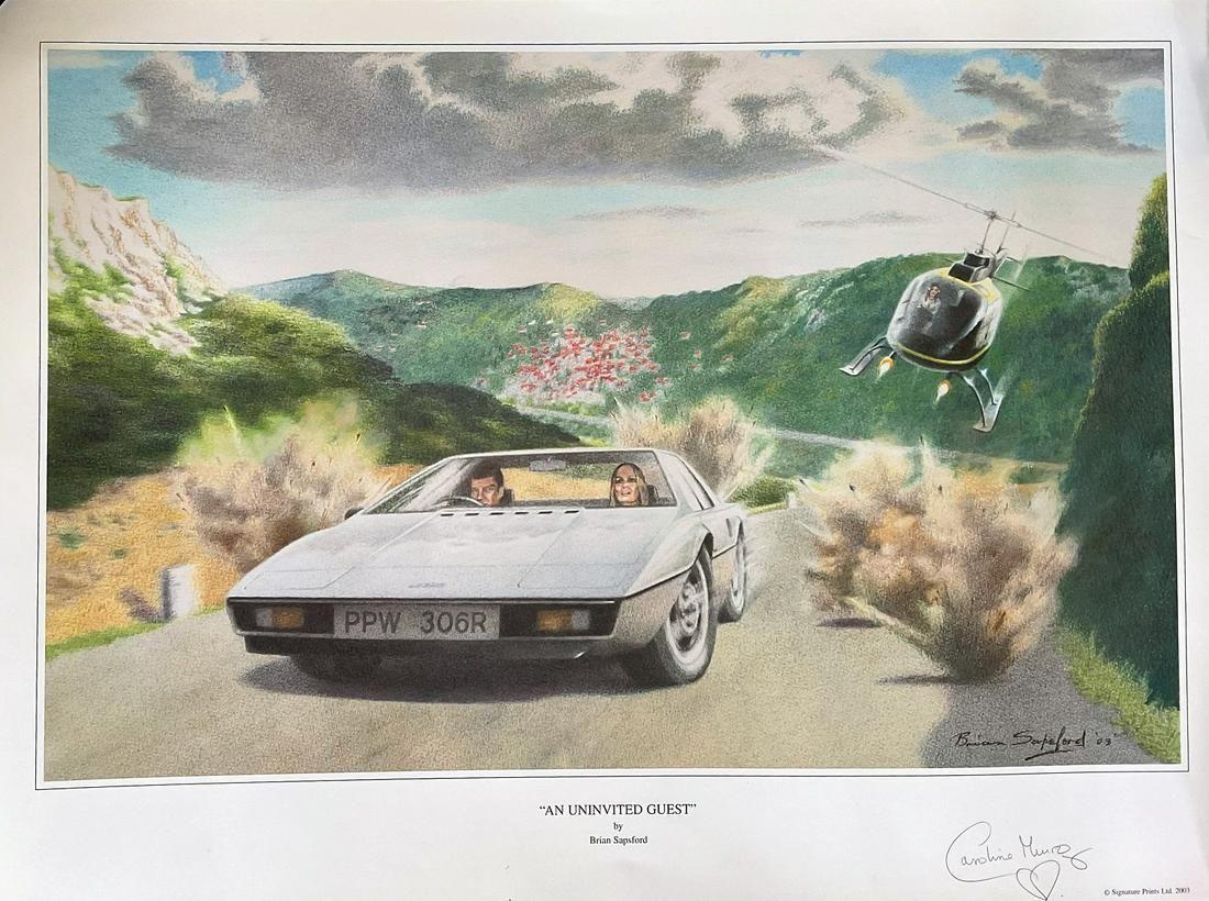 Bond Girl Caroline Munro signed 25x20 limited edition