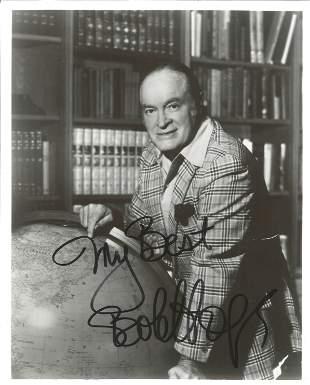 Bob Hope signed 10x8 black and white photo. Leslie