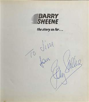 Barry Sheene signed hardback book titled The Story so