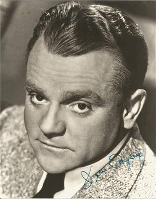 James Cagney signed 10x8 black and white photo. James