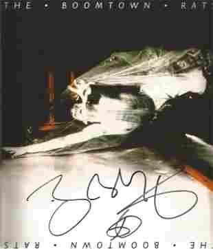 Bob Geldof signed 10x10 Boomtown Rats colour promo