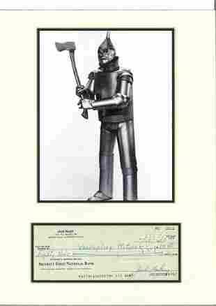 Jack Haley 16x12 mounted signature piece includes
